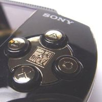 Sony PSP Adorn stickers - Gold Metal